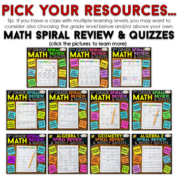 Create Your Own Bundle for K-12 | Spiral Review and Games | You PICK, You SAVE!