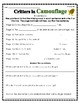 """""""Critters in Camouflage"""" Activities for Reading, Writing, & Comprehension"""