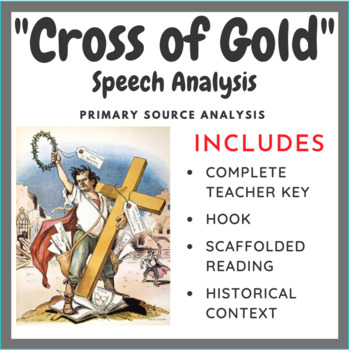 """Cross of Gold"" Speech Analysis - Common Core Aligned"