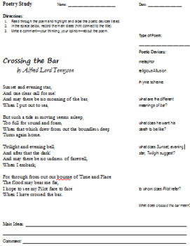 """Crossing the Bar"" by Alfred Lord Tennyson: Poetry Close Reading and Response"