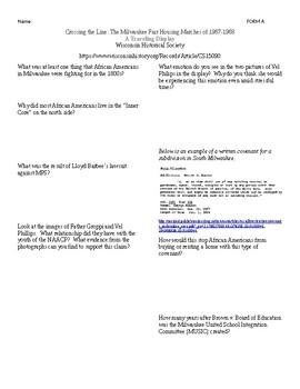 """Crossing the Line"" Display Worksheet/Scavenger Hunt"