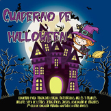 Cuaderno de Halloween / Halloween exercise book in Spanish
