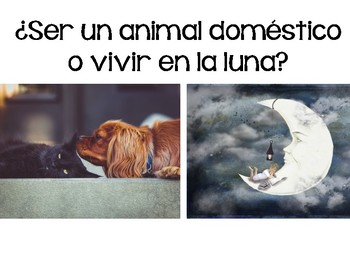 ¿Cuál Preferirías? Would you rather? Spanish Slideshow