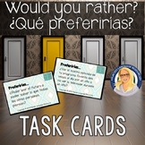 ¿Qué preferirías? Would you rather? Spanish Task Cards