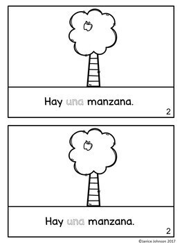 ¿Cuántas manzanas hay? ~How Many Apples are There? ~ Numbers Readers {Bilingual}