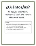 ¿Cuántos/as? Hay, Números Activity and lesson