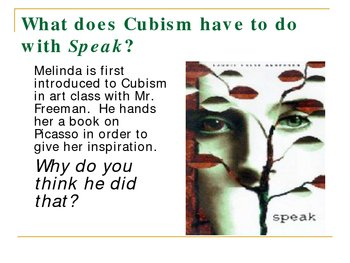 Cubism and Speak by Laurie Halse Anderson (Power Point Presentation)