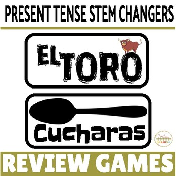Review Game Pack for Present Tense Stem-Changing Verbs