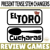 Present Tense Stem-Changing Verbs Review Game Pack