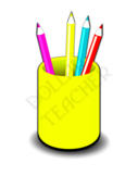 ★{Cup of Pencils Clipart }★ ✔Professional Use