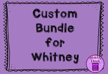 *** Custom Bundle for Whitney ****