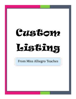 *Custom Listing* - K. Anderson
