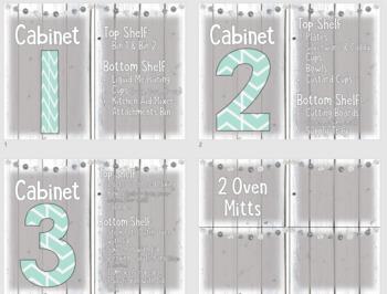 *Custom Product* Kitchen Labels for Elizabeth S.