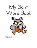 * Customizable * My Sight Word Book