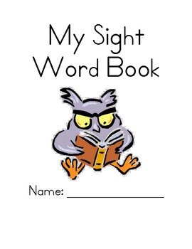 * Customizable * My Sight Word Book