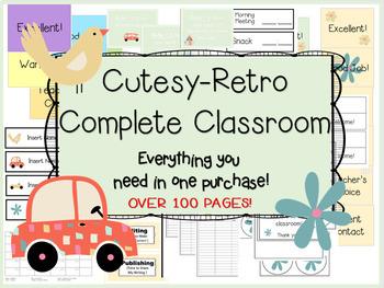 Classroom Decor - Cutesy Retro