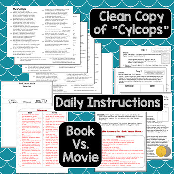 """""""Cyclops"""" - Lesson Plans, Activities, Vocabulary, Test"""