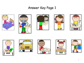 """Speech Therapy """"DAILY ROUTINE ACTIONS"""" Adapted Books (Color & B/W) """"IS/Pronouns"""