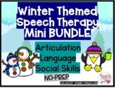 Winter Themed Speech Therapy Mini BUNDLE Articulation, Lan
