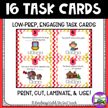 DGE and GE Spelling Rule:  SCOOT Task Cards
