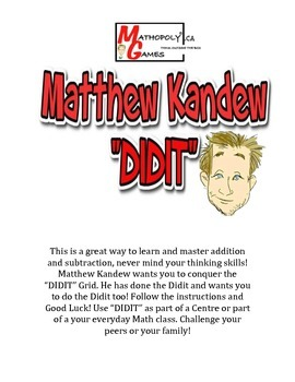 """Matthew Kandew """"DIDIT"""" - Addition and Subtraction Puzzle Worksheet & Game"""