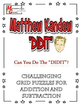 """Matthew Kandew """"DIDIT"""" - Addition and Subtraction Puzzle W"""