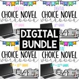 *DIGITAL* 7-12 Choice Novel Workbooks BUNDLE!