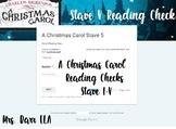 *DIGITAL* A Christmas Carol Stave 1-5 Reading Check *No Pr