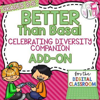 [DIGITAL CLASSROOM ADD-ON] Better Than Basal Celebrate Diversity:Activities  Only