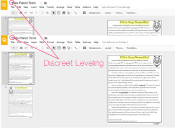 [DIGITAL CLASSROOM] Leveled Paired Texts Passages: Bats, Owls, Spiders Gr. 4-8