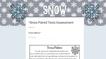 [DIGITAL CLASSROOM] Leveled Paired Texts Passages: Winter and Snow Grades 4-8
