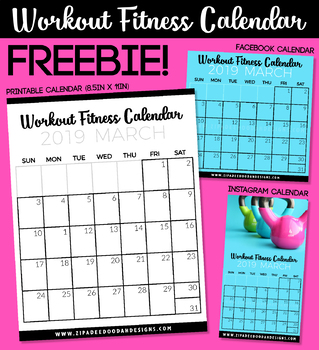 photograph about Printable Weight Loss Calendars referred to as Electronic PRINTABLE Totally free Exercise session Physical fitness Calendars