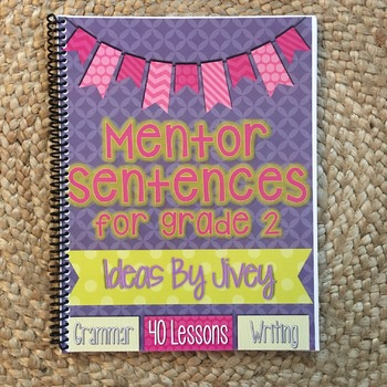 *DISCOUNTED* Mentor Sentences for Grade 2 HARD COPY Book (