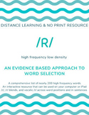 DISTANCE LEARNING: Articulation Words and Sentences for /r/