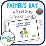 (DISTANCE LEARNING) Father's Day social story for special education | BOOM Cards