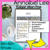 DISTANCE LEARNING Reading Comprehension Passages and Quest
