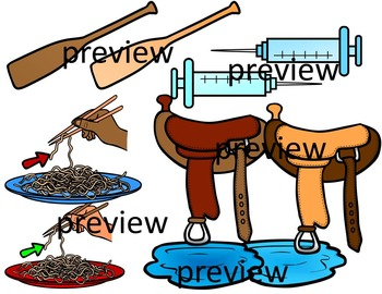 FINAL STABLE SYLLABLES -DLE ENDING WORDS CLIP ART