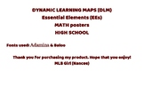 (DLM) Essential Elements MATH posters HIGH SCHOOL