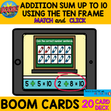 $$DOLLAR DEAL$$ ADDITION SUM UP TO 10 USING TEN FRAME BOOM cards™