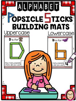 *$$DOLLAR DEAL$$** ALPHABET POPSICLE STICKS BUILDING MATS