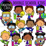Doodle Kids at School {Creative Clips Clipart}