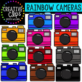 Rainbow Cameras {Creative Clips Digital Clipart}