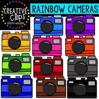 Rainbow Cameras {Creative Clips Digital Clipart}