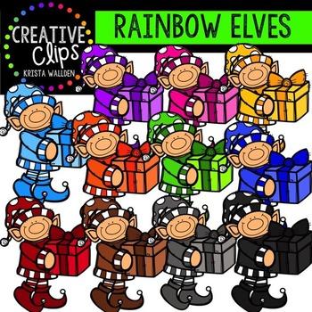 Rainbow Elves {Creative Clips Digital Clipart}