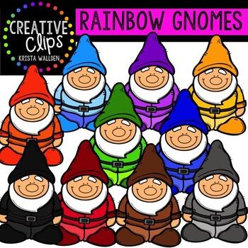 Rainbow Gnomes {Creative Clips Digital Clipart}