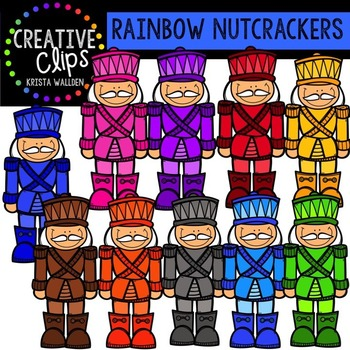 Rainbow Nutcrackers {Creative Clips Digital Clipart}