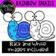 {DOLLAR DEAL} Rainbow Snails {Creative Clips Clipart}
