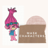 """""""DON'T FORGET YOUR MASK!"""" Character Bulletin Board"""