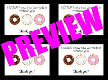 """DONUT"" Appreciation Tags"