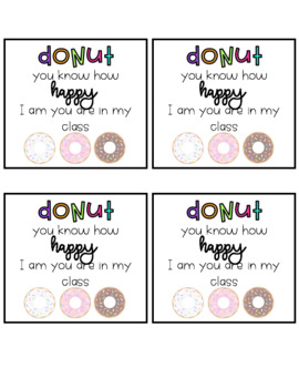 """""""DONUT"""" TAGS back to school"""